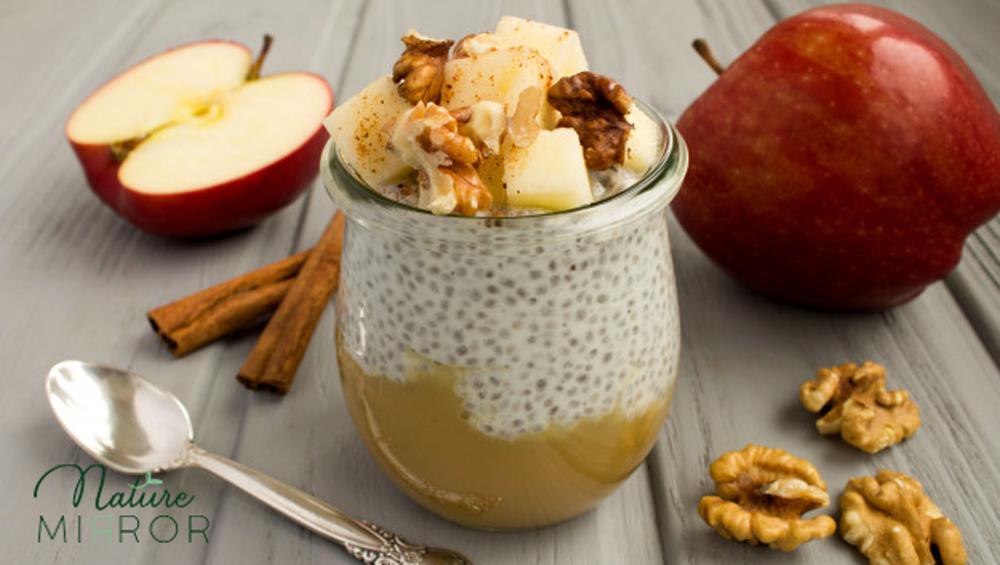 Készíts őszi almás fahéjas chia pudingot!